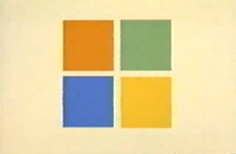 Microsoft 1995 advertised logo