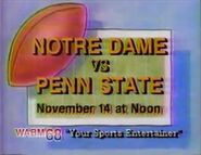 WABM 68 Notre Dame Football promo 1992