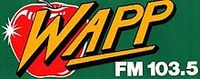 WAPP-FM's The Apple 103.5 Logo From 1982