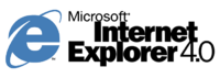 Internet Explorer 4 logo