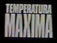 Temperatura Máxima anos 80