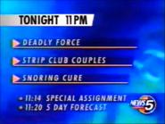 WEWS 11pm Schedule