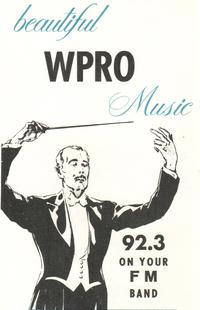 WPRO FM Providence 1972