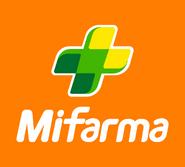 MiFarma logo 2012 apilado con fondo