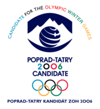Poprad-Tatry 2006 Olympic candidate city bid logo