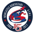 Newcastle Northstars 2017 15 year logo