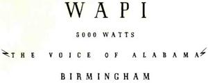 WAPI - 1930s -January 28, 1938-