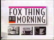 WFLD Fox Thing In The Morning 1994 Open