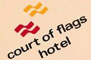 Court of Flags Resort logo 1974 2