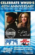 WHUD-FM's 100.7's Gavin DeGraw And Colbie Caillat In Concert With Special Guest Andy Grammer Promo For Thursday Night, June 7, 2012