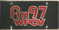 FM 97 WPCV License Plate