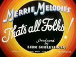 Merrie Melodies 1937 Ending Warner Bros. Pictures Inc.