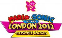 Mario and sonic at the london 2012 olympic games logo