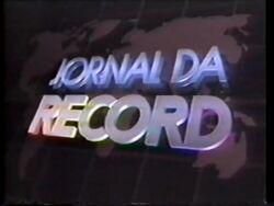 Jornal da Record 1992