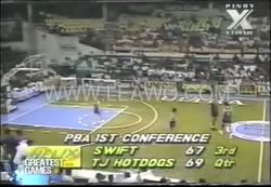 PBA on Vintage Sports scorebug 1992 1st Conf