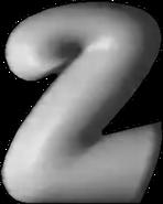 TVP2 1992 logo with gradient