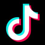 TikTok icon reversed color