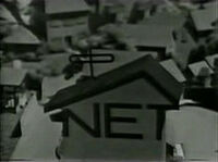 NET logo (MisteRogers Neighborhood, B&W)
