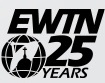 EWTN 25 years print logo was in black color