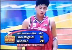 PBA on Vintage Sports end of quarter scorebug 1998 All Filipino Cup