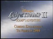 Lady and the tramp II teaser