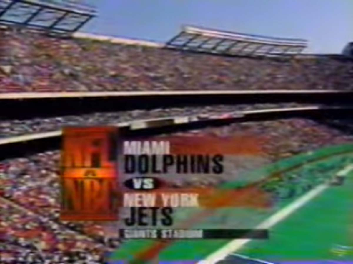 NBC Sports' NFL On NBC's Miami Dolphins Vs. New York Jets Video Open From Sunday Afternoon, October 22, 1995