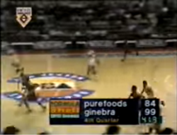 PBA on Vintage Sports scorebug 1996 AFC