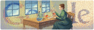 Marie Curie's 114th Google Logo