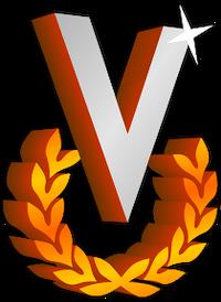 Logo de venevision 1986-1988 con sombra