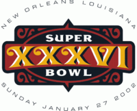 Super Bowl XXXVI original logo