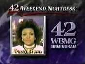 WBMG 42 News Tracey Brown Promo 1990