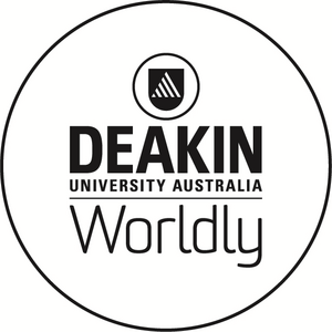 Deakin worldly logo