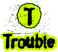 Trouble logo 1997