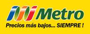 Metro logo 2004 con fondo y eslogan (2009-2011)