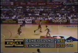 PBA on Vintage Sports scorebug 1993 AFC
