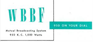 WBBF - 1953 -November 16, 1953-
