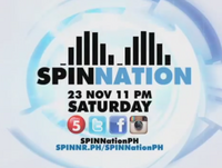 SpinNation TV5 Test Card used for November 2013