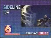 WBRC-TV Channel 6 Sideline '94 promo in 1994