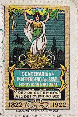 Exposição do Centenário de 1922- Selo comemorativo