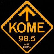 KOME 98.5 Reversed logo