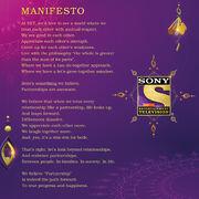 Sony TV India 2016 Channel Manifesto