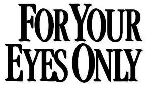 For Your Eyes Only Logo