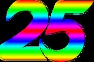 Indosiar 25 Tahun Rainbow Number