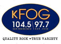KFOG 104.5 97.7 FM