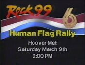 WBRC-TV Channel 6 and Rock 99 radio The Human Flag Rally