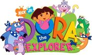 Dora the Explorer Logo with Characters