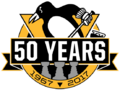 Pittsburgh Penguins logo (50th anniversary)