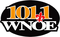 101.1 WNOE logo