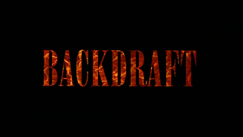Backdraft film font