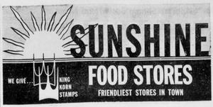 Sunshine Food Stores - 1966 -September 9, 1966-